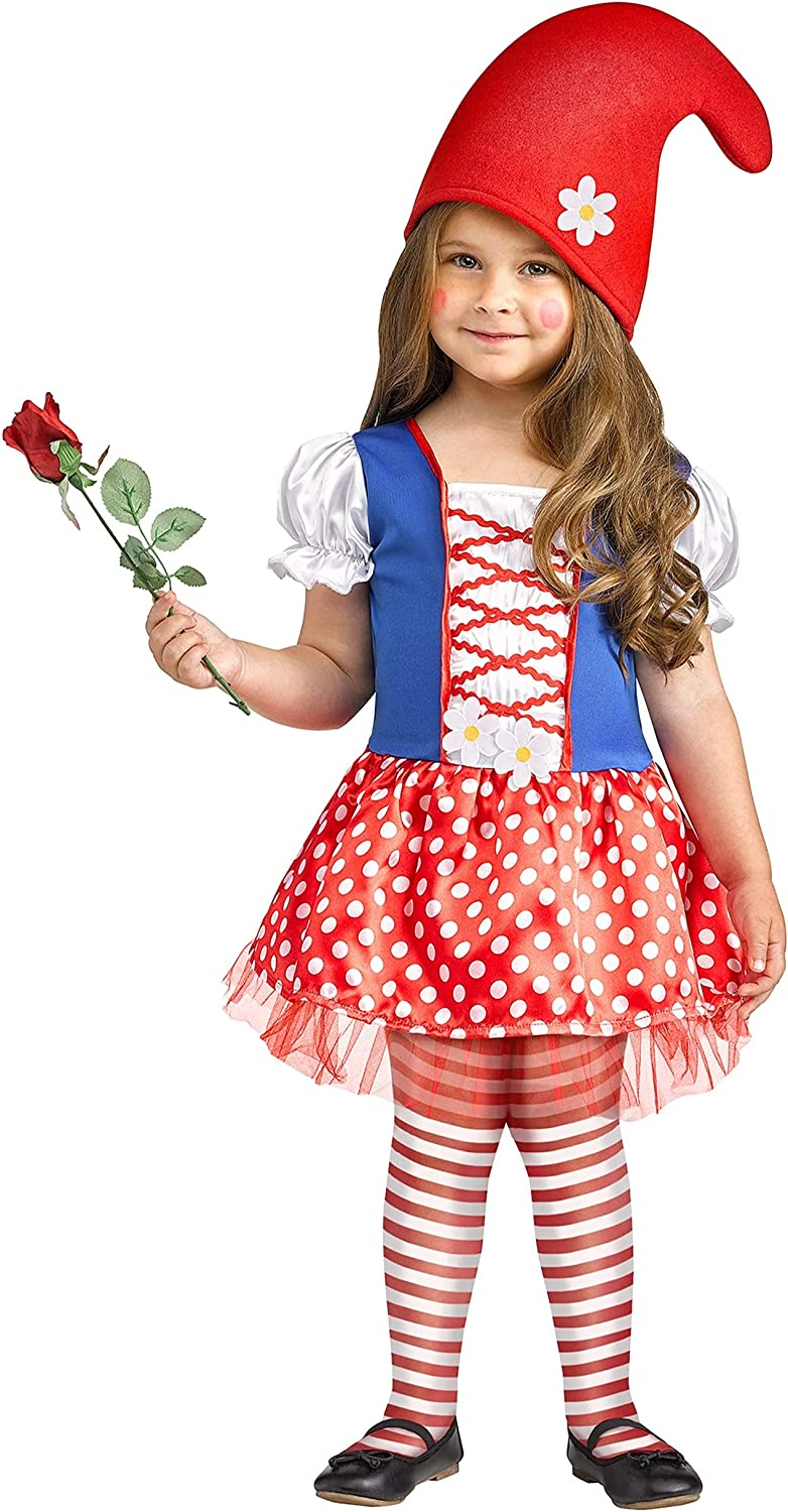 Lil Miss Gnome Costume for Toddlers