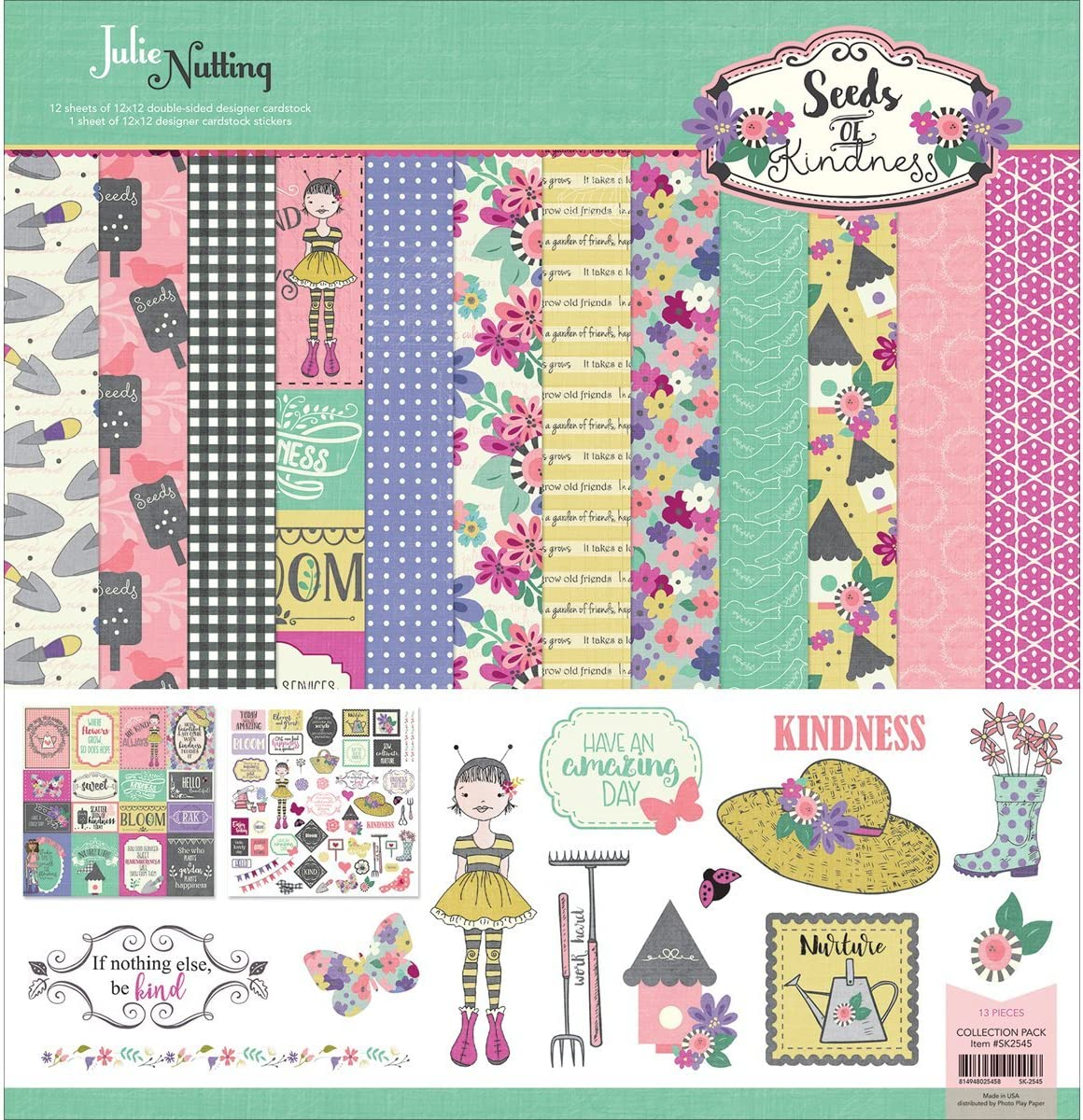 Photo Play Collection Pack 12'x12'-Julie Nutting Seeds Of Kindness