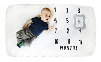 Baby Monthly Milestone Crib Sheet Luxuriously Plush Soft Coral Fleece Crib Sheet Warm Crib Sheet