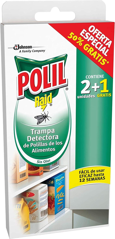 POLIL trampa detectora de polillas de los alimentos caja 2 + 1 uds