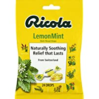 Deals on Ricola Lemon Mint Herbal Cough Suppressant Throat Drops, 24ct Bag