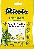 Ricola Lemon Mint Herbal Cough Suppressant Throat Drops, 24ct Bag