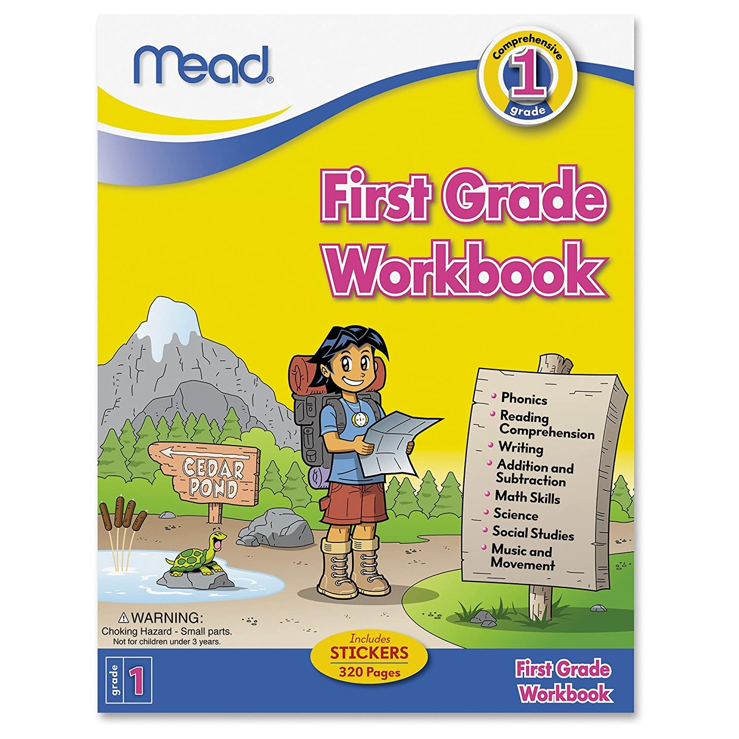 Worksheet First Grade Math Books amazon com mead first grade workbook 48200 office products