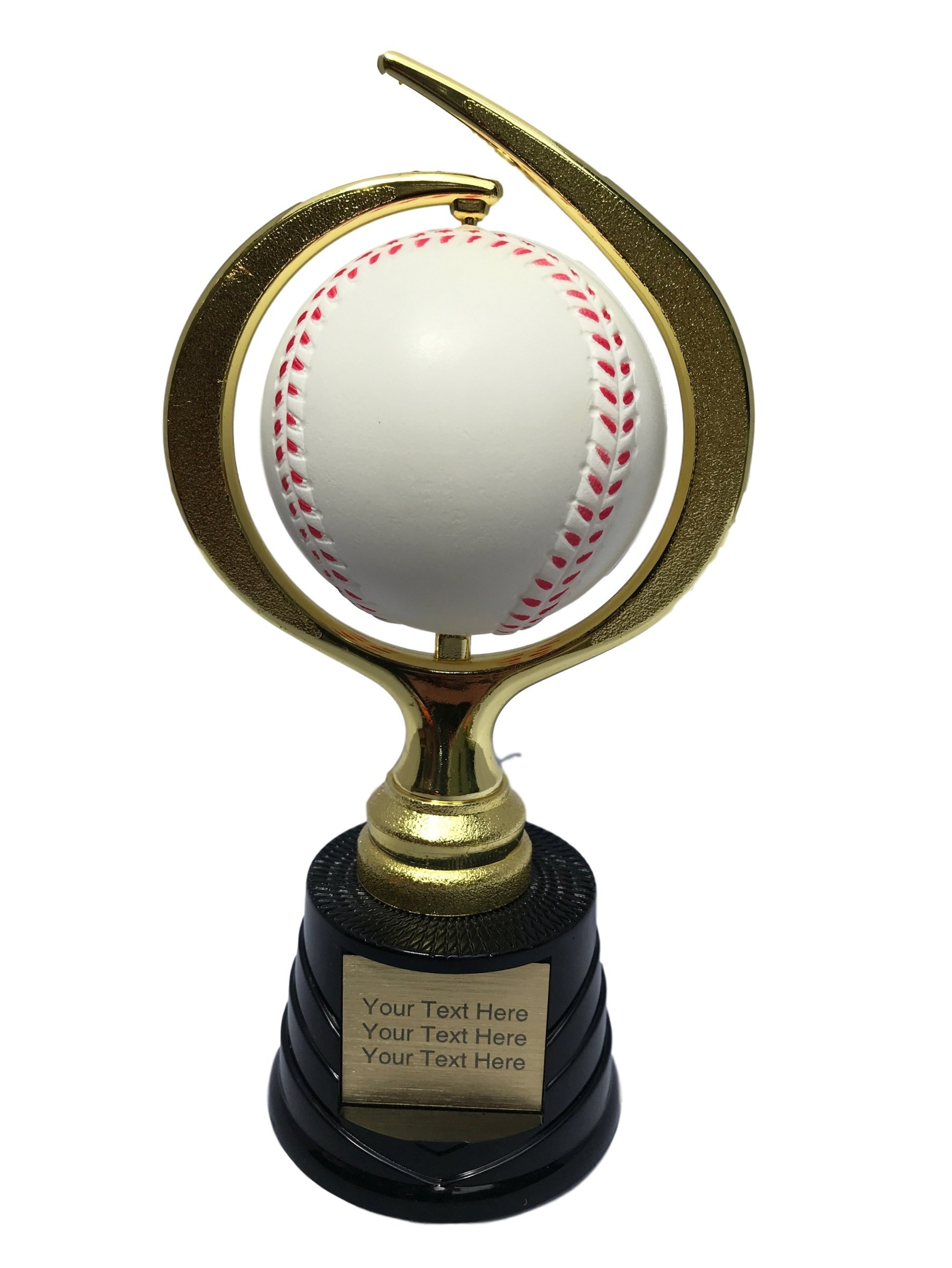 Trophy Crunch - Customized Baseball/Softball Trophies - Baseball Spinner - Free Plate Engraving