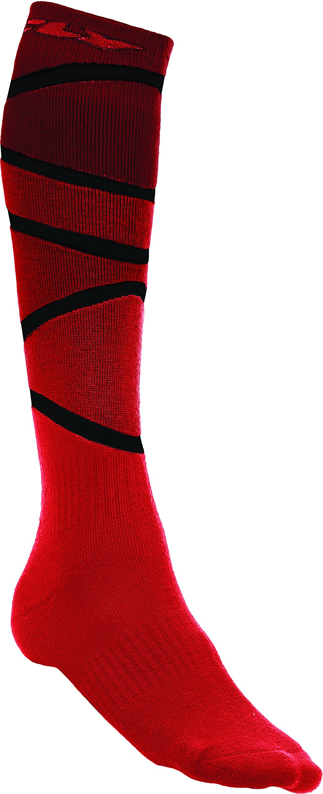 Fly Racing Unisex-Adult Mix Socks Thick (Red/Black, Large/X-Large)