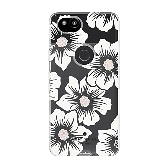 huge selection of 43d40 c0cb4 kate spade new york Flexible Hardshell Case for Google Pixel 2 - Multi  Hollyhock Floral Clear / Cream with Stones