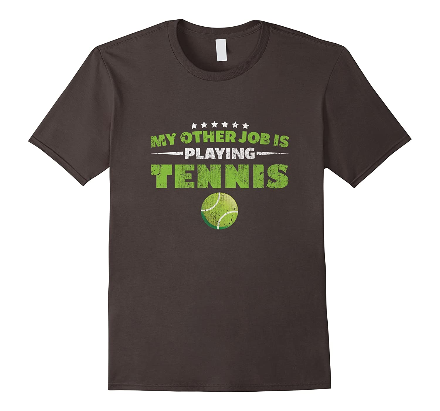 My Other Job Is Playing Tennis Court Sports T Shirt Tj Theteejob
