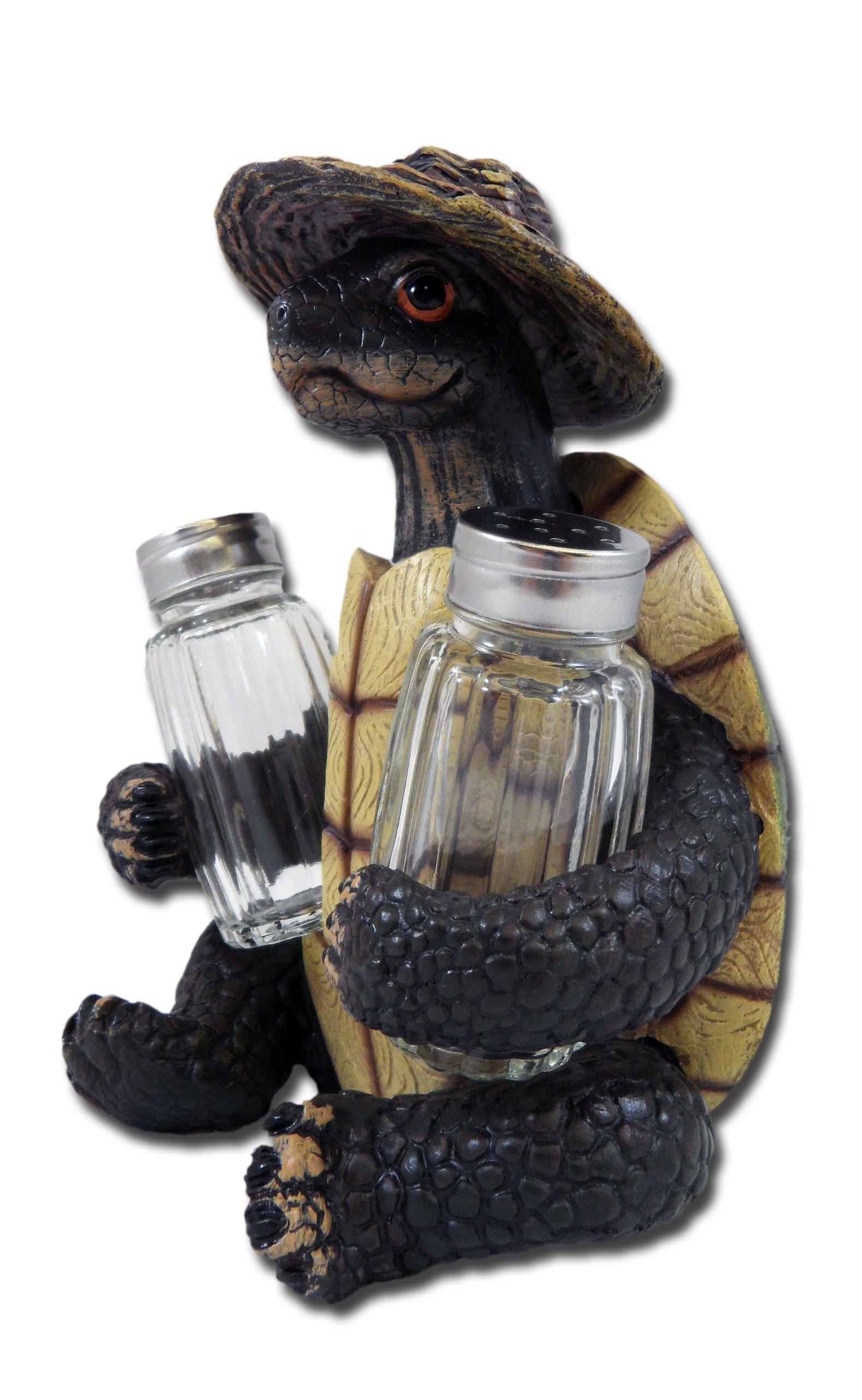 Turtle Soup Salt and Pepper Shaker Set - Green Tortoise Box Sea Turtles