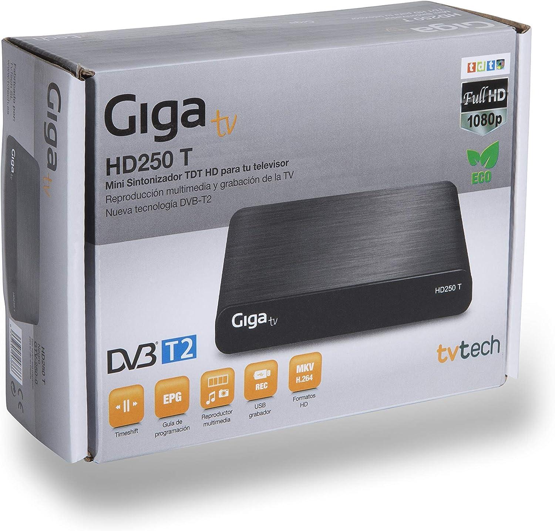 GIGA TV HD250 T - Sintonizador de TV