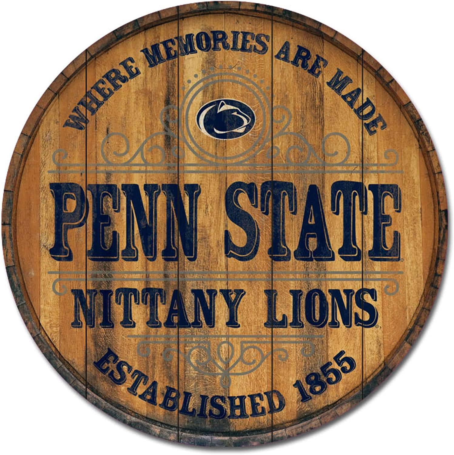 NCAA Legacy Penn State Nittany Lions Barrel Top Wall Mount 26 x 26 One Size Wood