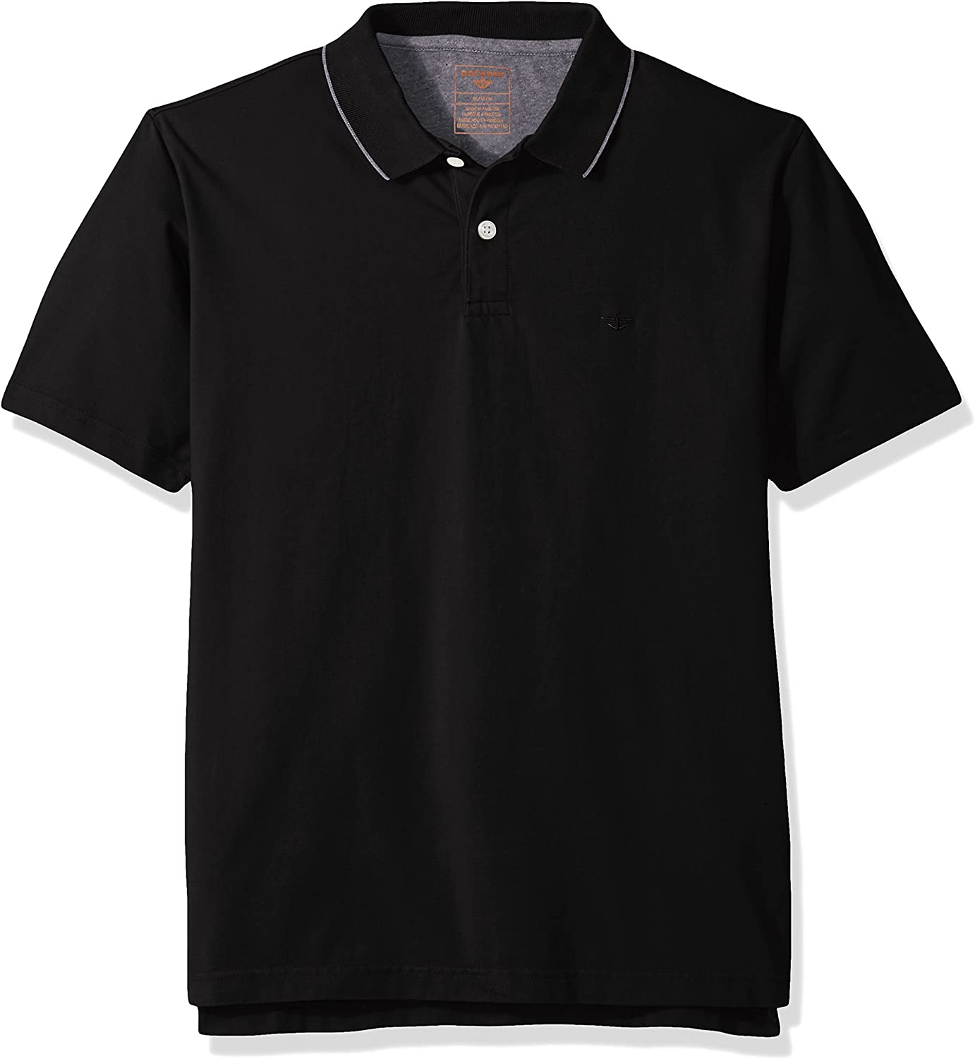 dockers Mens Performance Polo Short Sleeve with Embroidered Logo