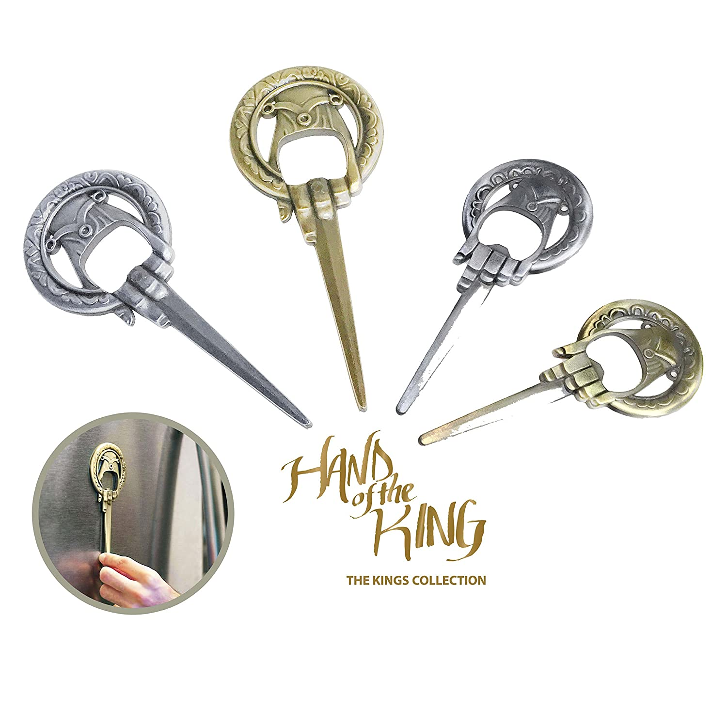 """""""Game of Thrones"""" Hand of the King Bottle Opener - Life Size Bronze"""
