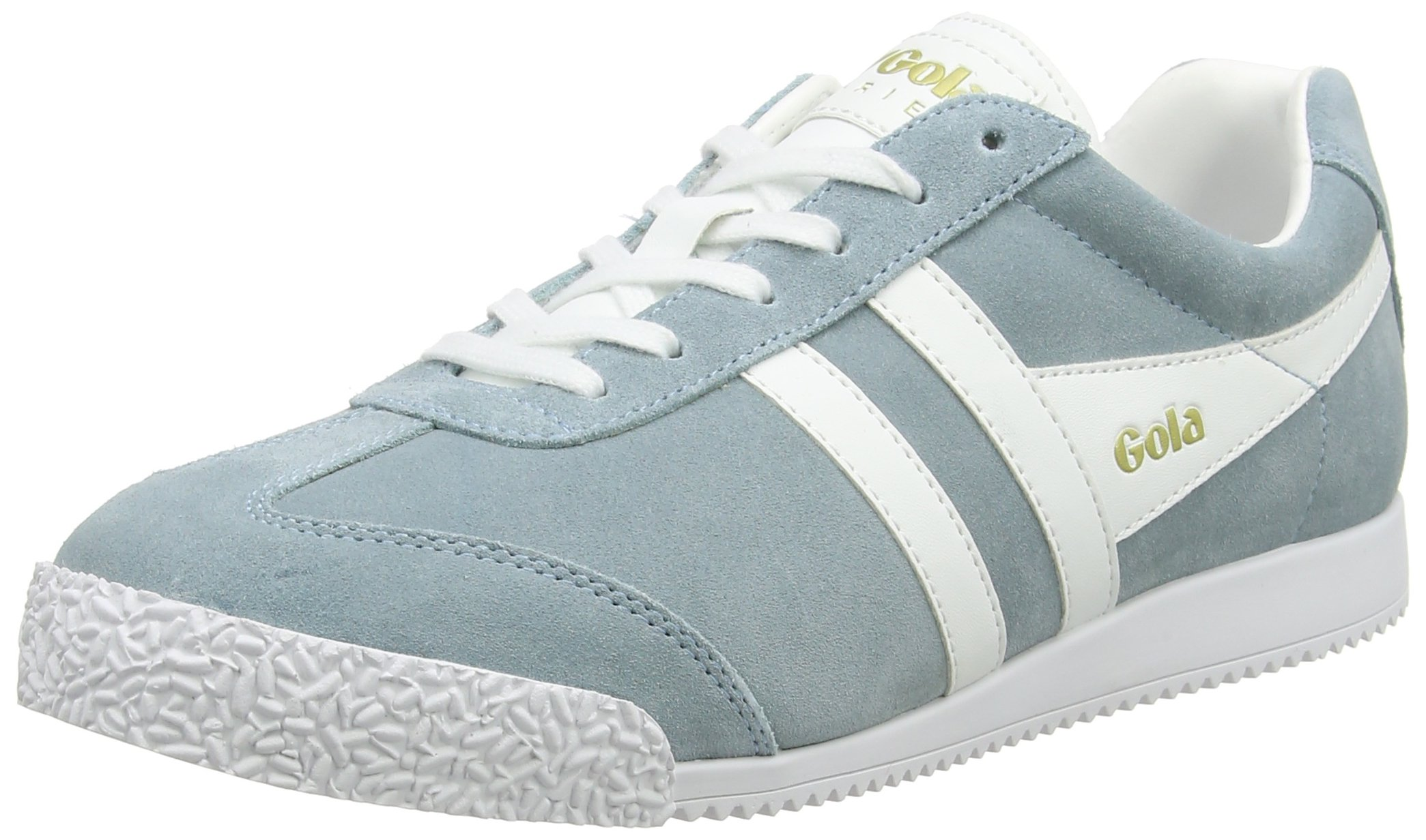 Gola Womens Harrier Sneaker,Sky Blue/White Suede,US 8 M