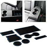 Auovo Auto Cup Holder Inserts Coaster Liners Fit for Tesla Model 3 2020 2019 2018 2017 Cup Mat Pad Interior Decoration Accessories Red Trim, 3pcs//Set