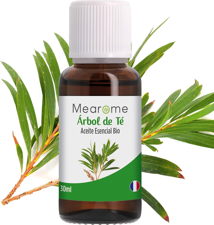 Aceite Esencial de Arbol de Té Puro 30 ml, 100% Natural y Bio   Trata el Acné Piojos Caspa Hongos Verrugas Problemas de Piel   Ideal para Humidificador Ultrasónico Aromaterapia   Fabricado en Francia