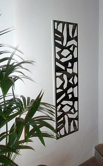 Kleiderständer Edelstahl Design wandgarderobe design mosaik 140x40x2 cm edelstahl 3d poliert