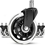 Office chair wheels replacement rubber chair casters for hardwood floors and