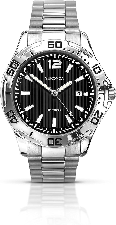 Sekonda Reloj Hombre de Analogico con Correa en Chapado en Acero Inoxidable 1171.27