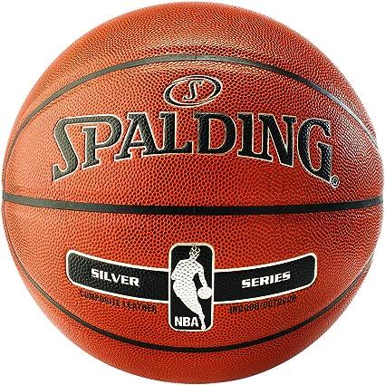 Amazon.com: Spalding Basketball NBA Silver Series - Balón de ...
