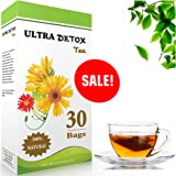 Ultra skinny Detox 30 Day, Targets Belly Fat , #1 Weight Loss Tea, Laxative, Reduces Bloating, Colon Cleanse, Boosts Metabolism - Relieves constipation - Detox your body Green Tea & Senna