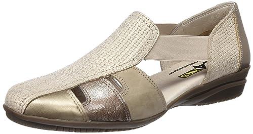 24 HORAS 23551, Sandalias con Punta Cerrada para Mujer, Beige (Taupe 10), 39 EU: Amazon.es: Zapatos y complementos