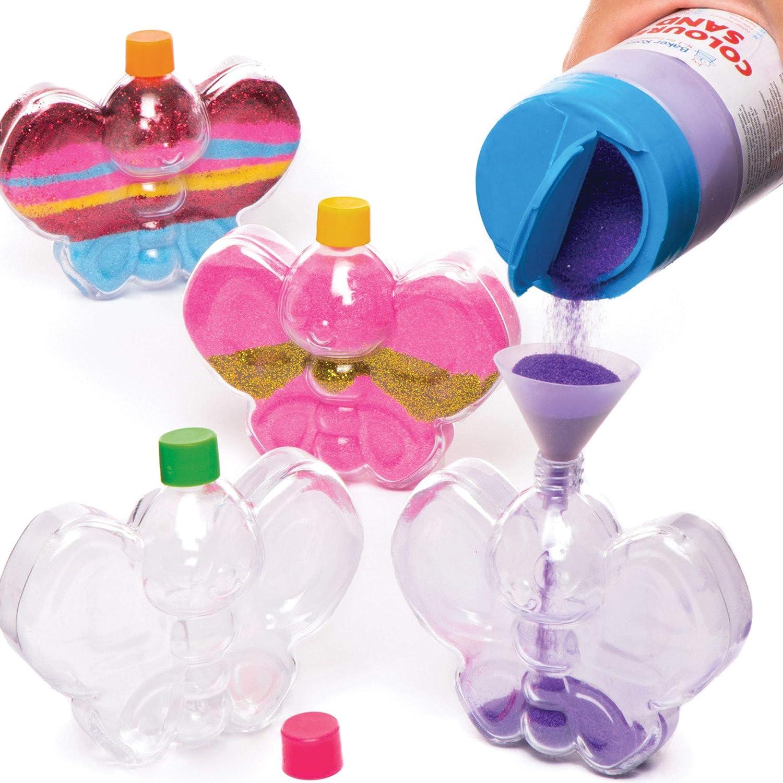 Baker Ross- Botellas de plástico en forma de mariposa para decorar ...