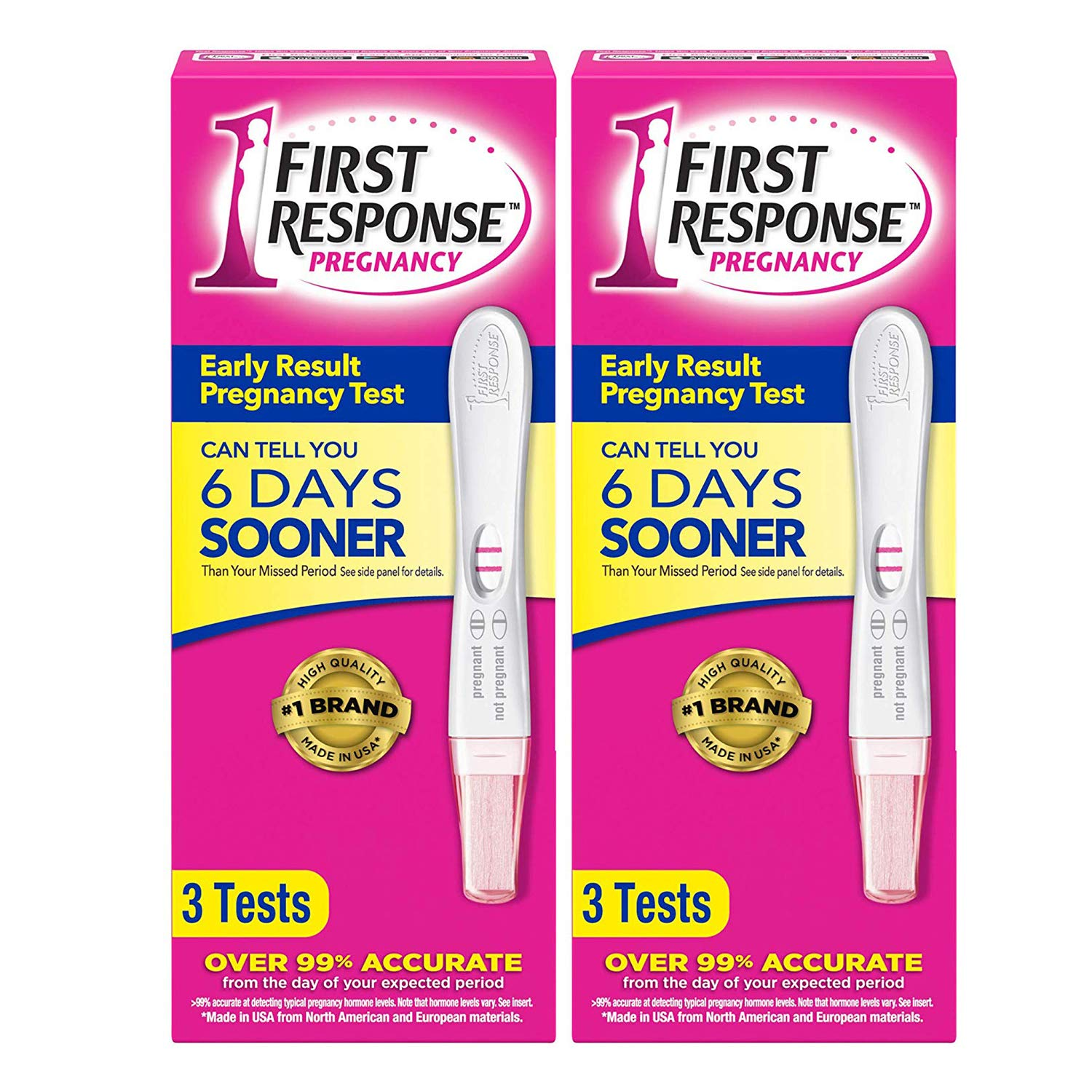 Early Result Pregnancy Test, 3 Tests (Packaging & Test Design May Vary) - 2 Pack by First Response