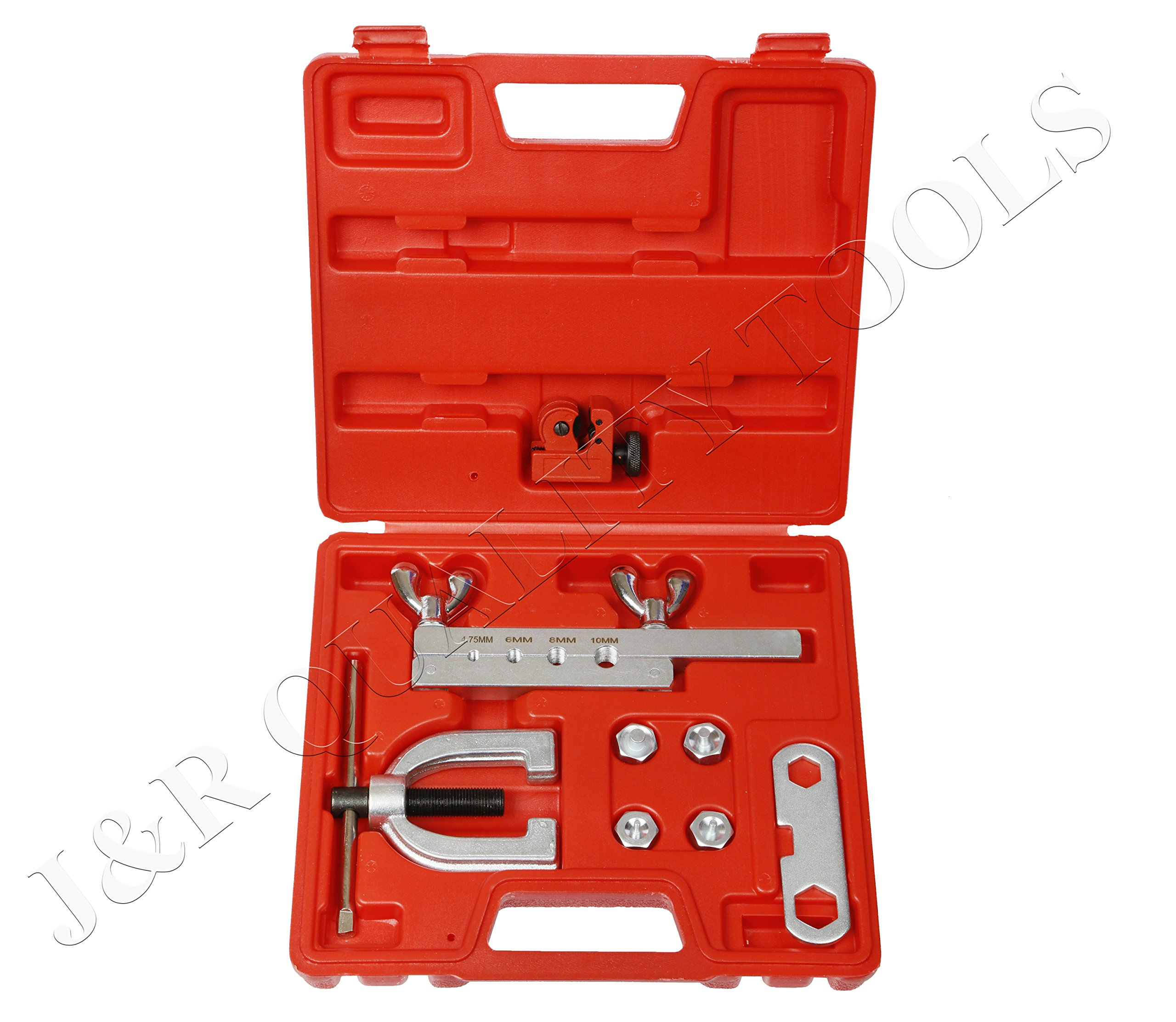 ISO/Bubble Flaring Tool Kit, 9 Piece | Includes Blow-Molded Case W/Mini Pipe Cutter by Vector Tools (Image #2)