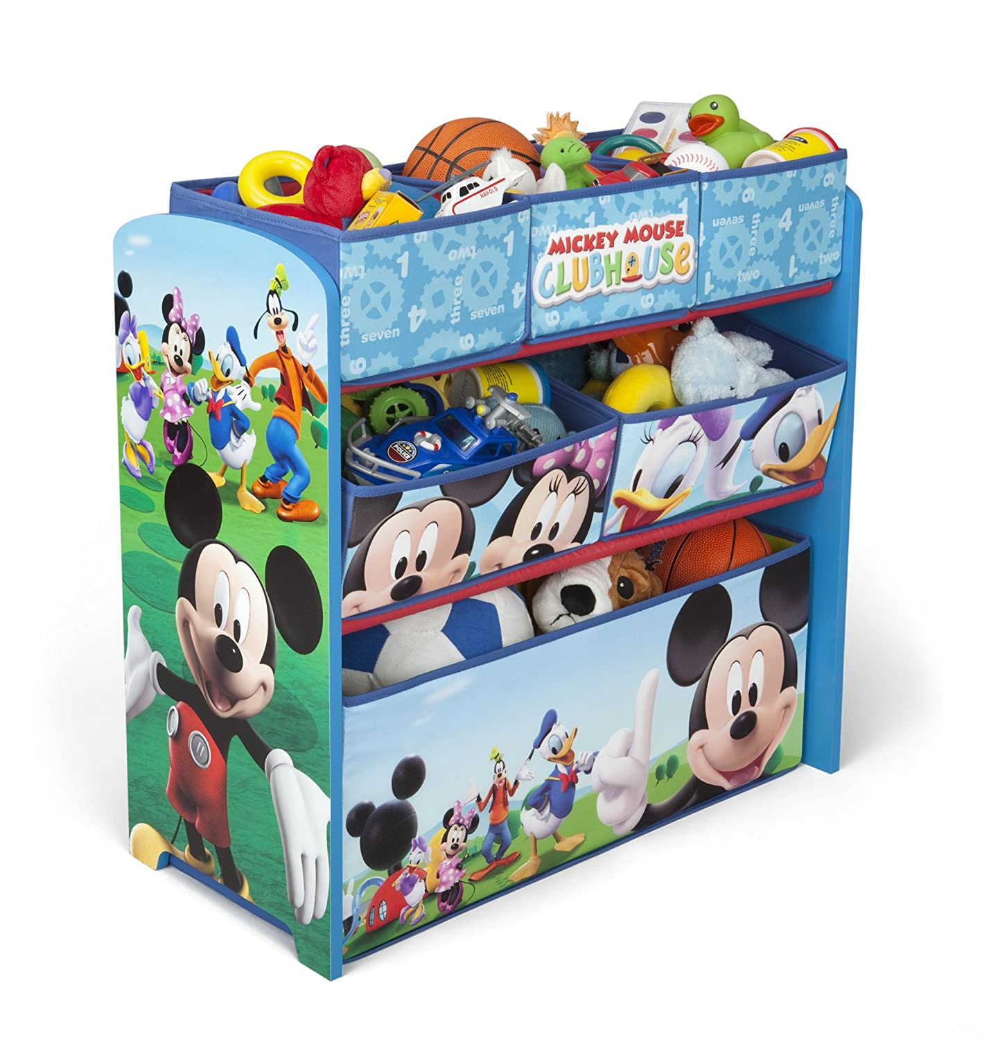 Disney Mickey Mouse Wooden Multi Bin Toy Organiser Amazon Baby