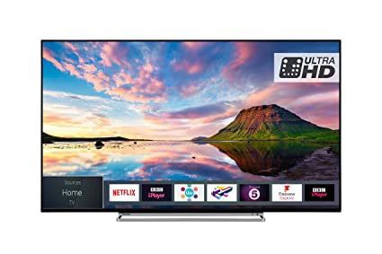 Toshiba 55U5863DB 55-Inch Smart 4K Ultra-HD HDR LED WiFi TV with Freeview  Play- Black/Silver (2018 Model)
