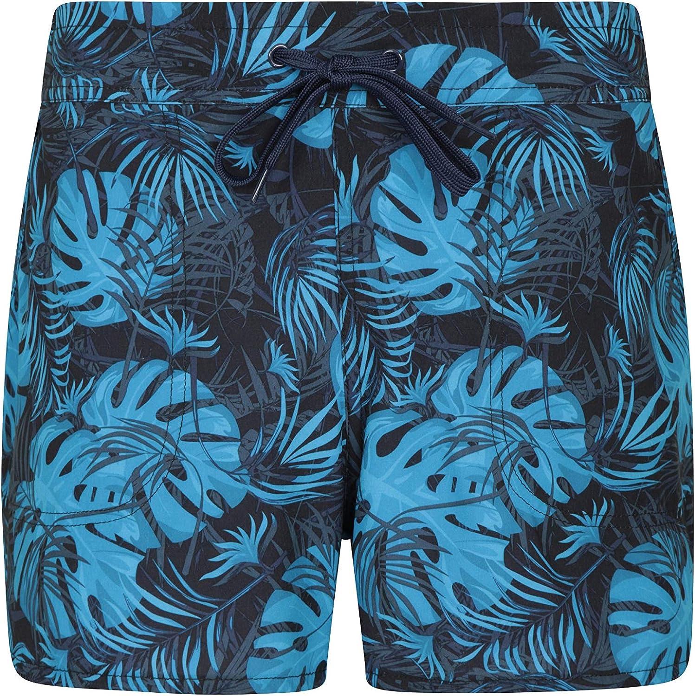 Mountain Warehouse Pantalones Rocky Estampados para Mujer pantal/ón Corto de Playa con Cintura Ajustable Pantal/ón Corto para Nadar de f/ácil Cuidado para Mujer