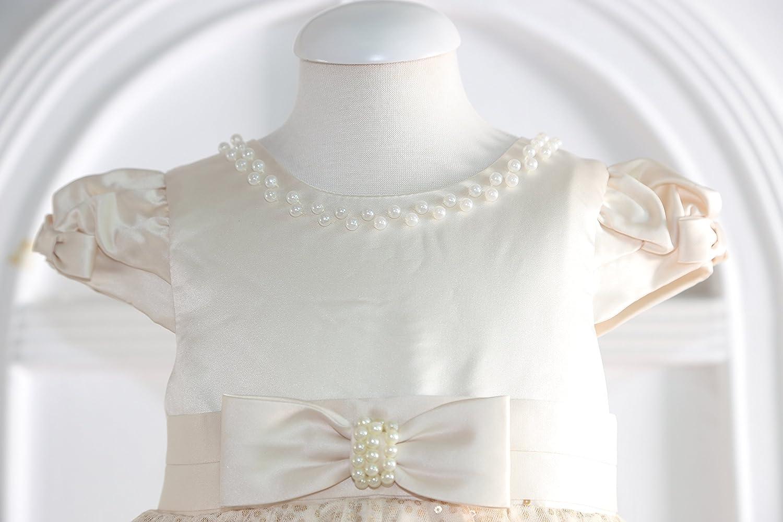 Little Castle Garden Sofia Festkleid Taufkleid Hochzeitskleid Blumenm/ädchen Kleid Ivory//Gold