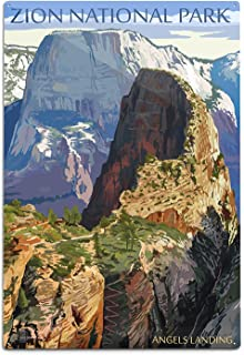 product image for Zion National Park, Utah, Angels Landing (12x18 Aluminum Wall Sign, Wall Decor Ready to Hang)