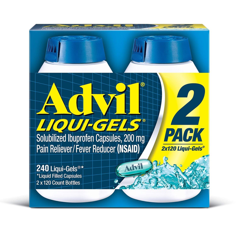 Advil Liquid Gels - GREAT Value SP 6 Pack (120 Count Each ) by Advil