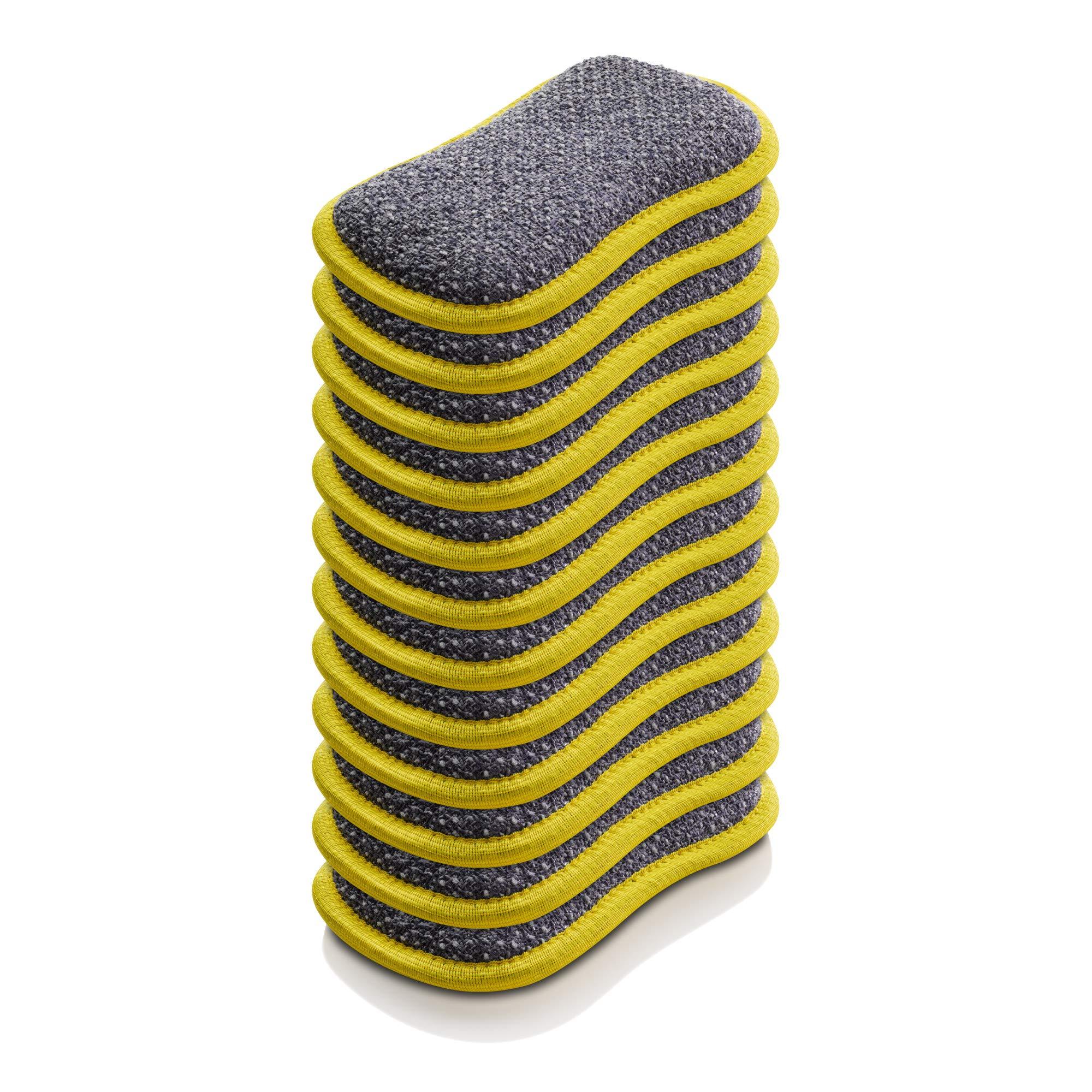 E-Cloth Microfiber Dual Purpose Washing Up Pad, Yellow, 12 Count by E-Cloth