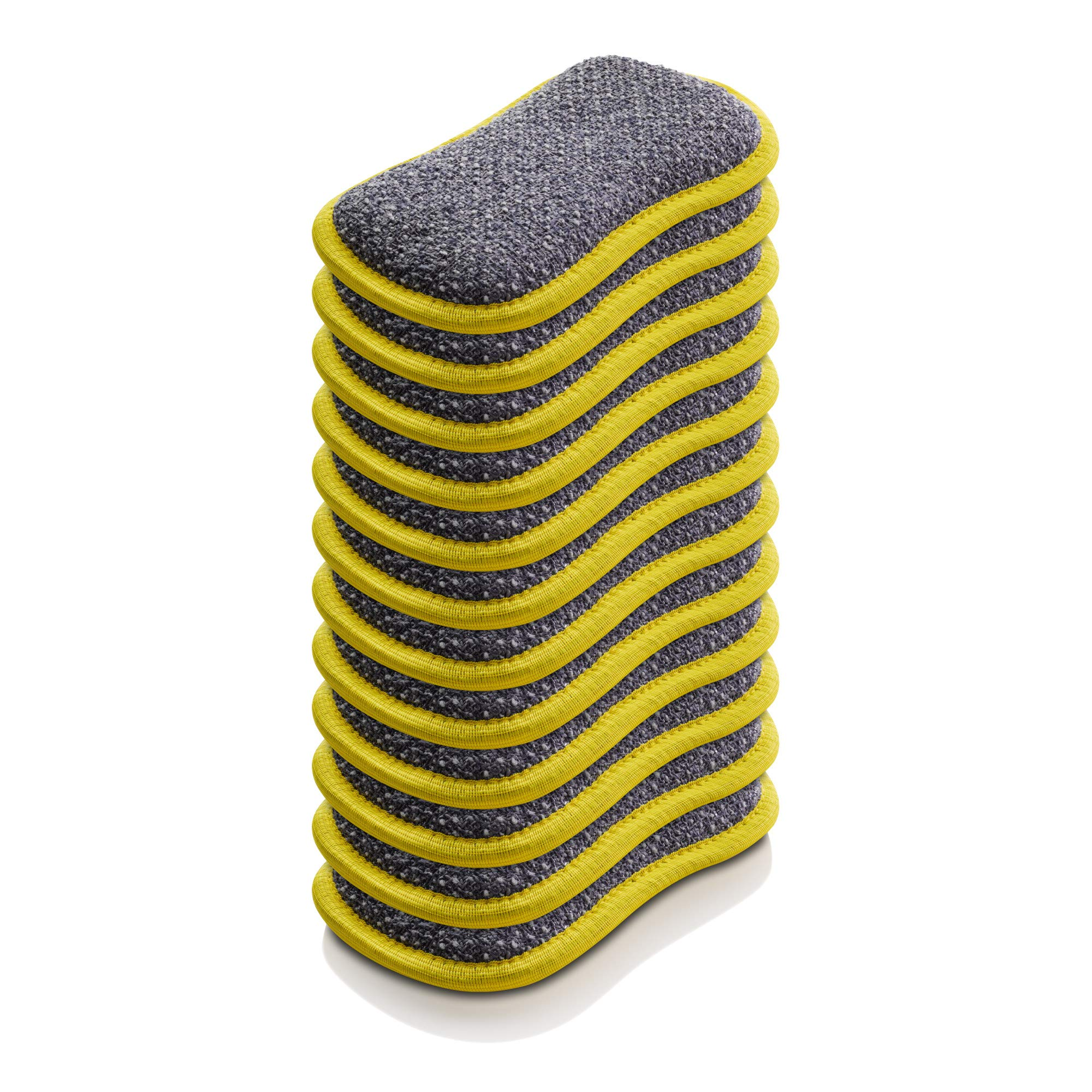 E-Cloth Microfiber Dual Purpose Washing Up Pad, Yellow, 12 Count