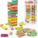 Milly & Ted - Juego de Torres de Madera para niños - Juego de Mesa Familiar para niños o niñas - Juguete para apilar…