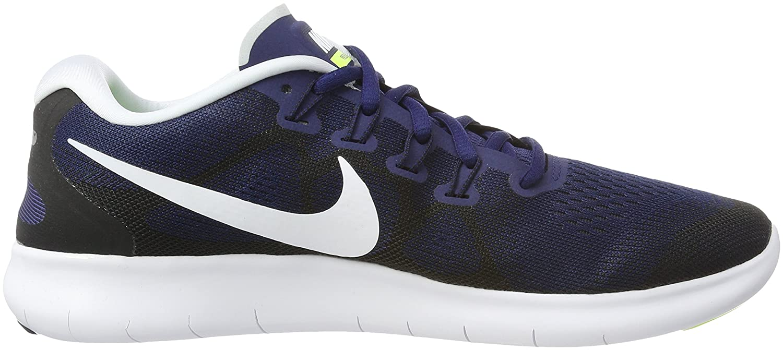 Nike Men's Free Rn 2017 BlueWht Blk Volt Running Shoes 11