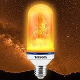 Konesky LED Flame Effect Light Flackernde Feuer Gl/ühbirne USB aufladbare Tischlampe mit Gravity Sensor Timer f/ür Weihnachts-Dekor 4 Pack