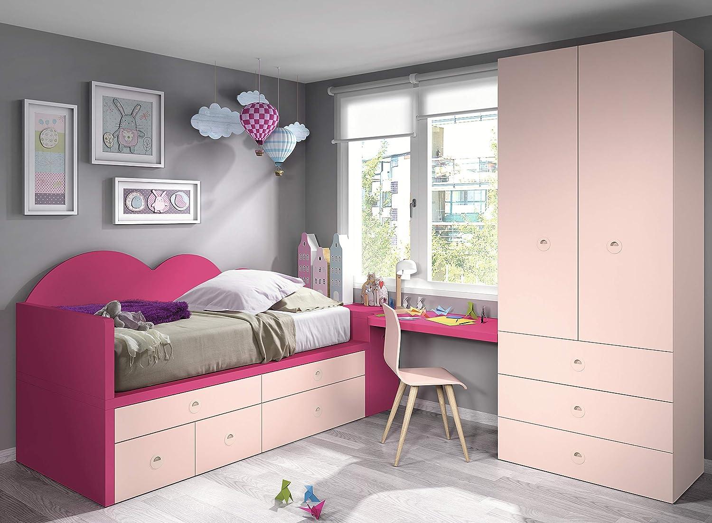 Ambiato Vita 33 Grande Armoire pour Chambre d'enfant avec de Nombreuses tiroirs et Panneau arrière Unique