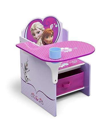 Outstanding Delta Children Chair Desk With Stroage Bin Disney Frozen Theyellowbook Wood Chair Design Ideas Theyellowbookinfo