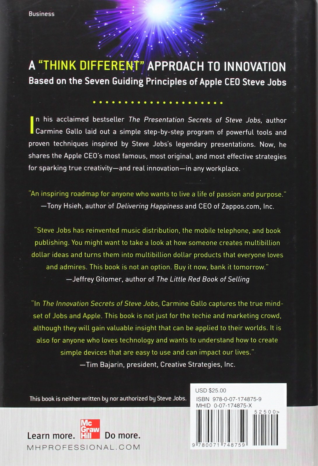 The Innovation Secrets of Steve Jobs: Insanely Different Principles ...