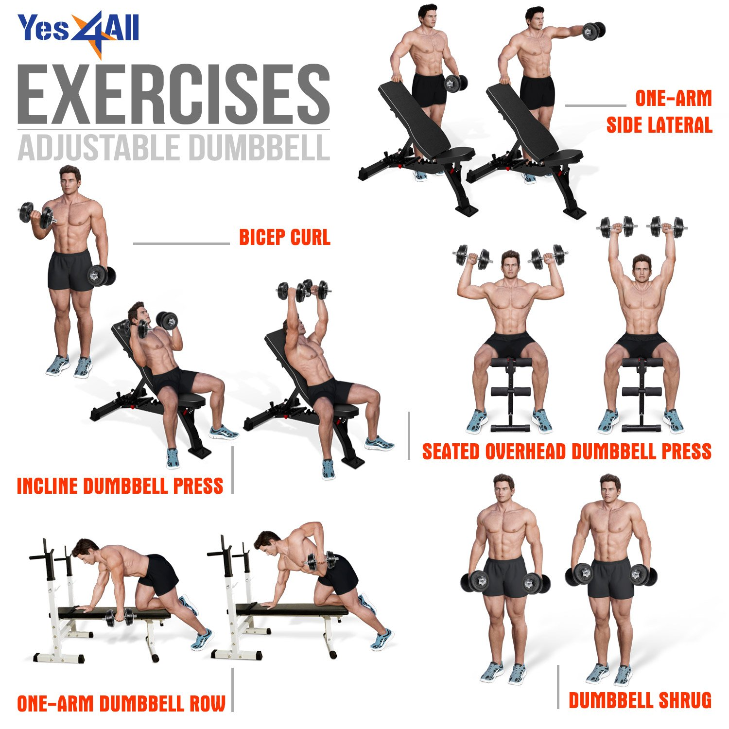 Yes4All Adjustable Dumbbell 40.02 lbs by Yes4All (Image #7)