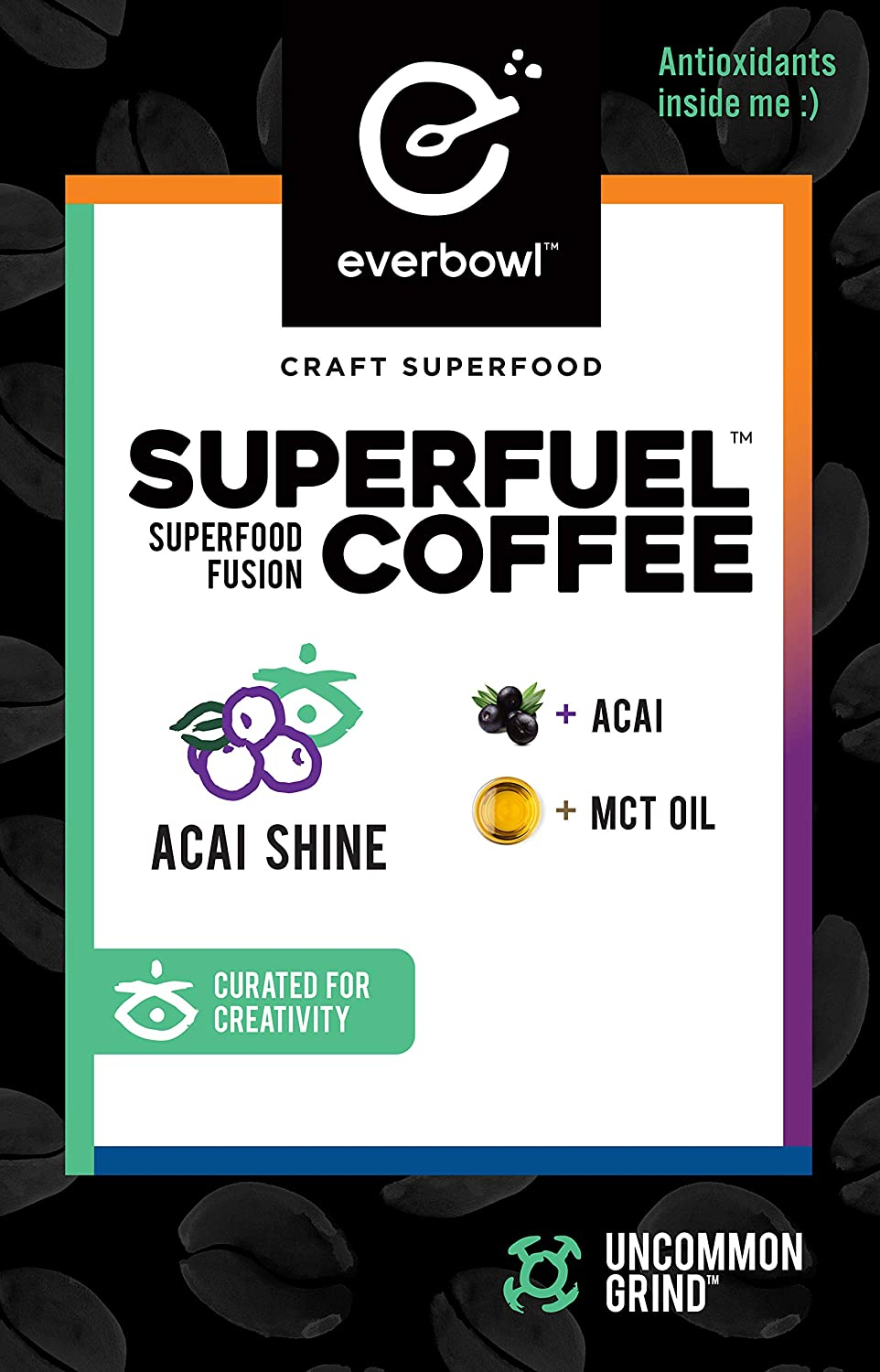 Everbowl Superfuel Coffee - Infused Coffee kcups for Keurig Brewers, infused with MCT Oil and Acai