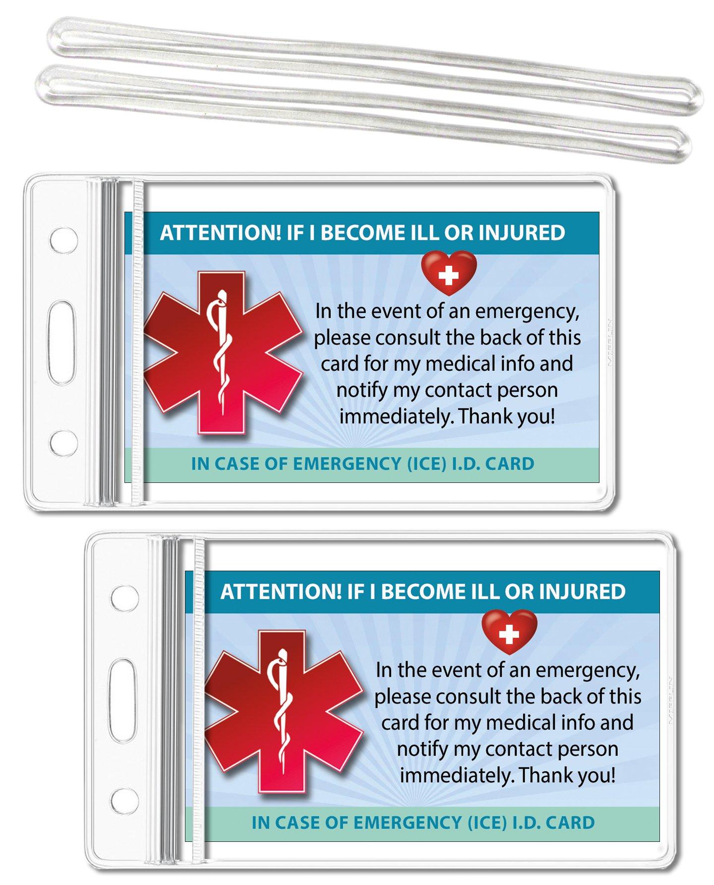 Medical ICE Alert Card In Case of Emergency