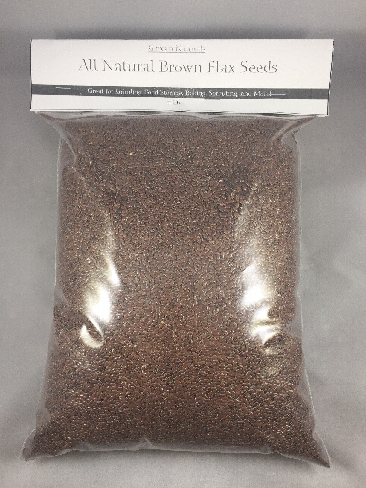 All Natural Flax Seeds 5 lbs by Garden Naturals