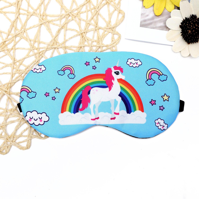 Eccoo House Unicorn Sleeping Mask 5pcs Soft Lightweight Blindfold Eye Cover for Men Women Kids by Eccoo House (Image #2)