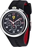 Ferrari - 830100 - Montre Homme - Quartz Analogique - Cadran Noir - Bracelet Silicone Noir