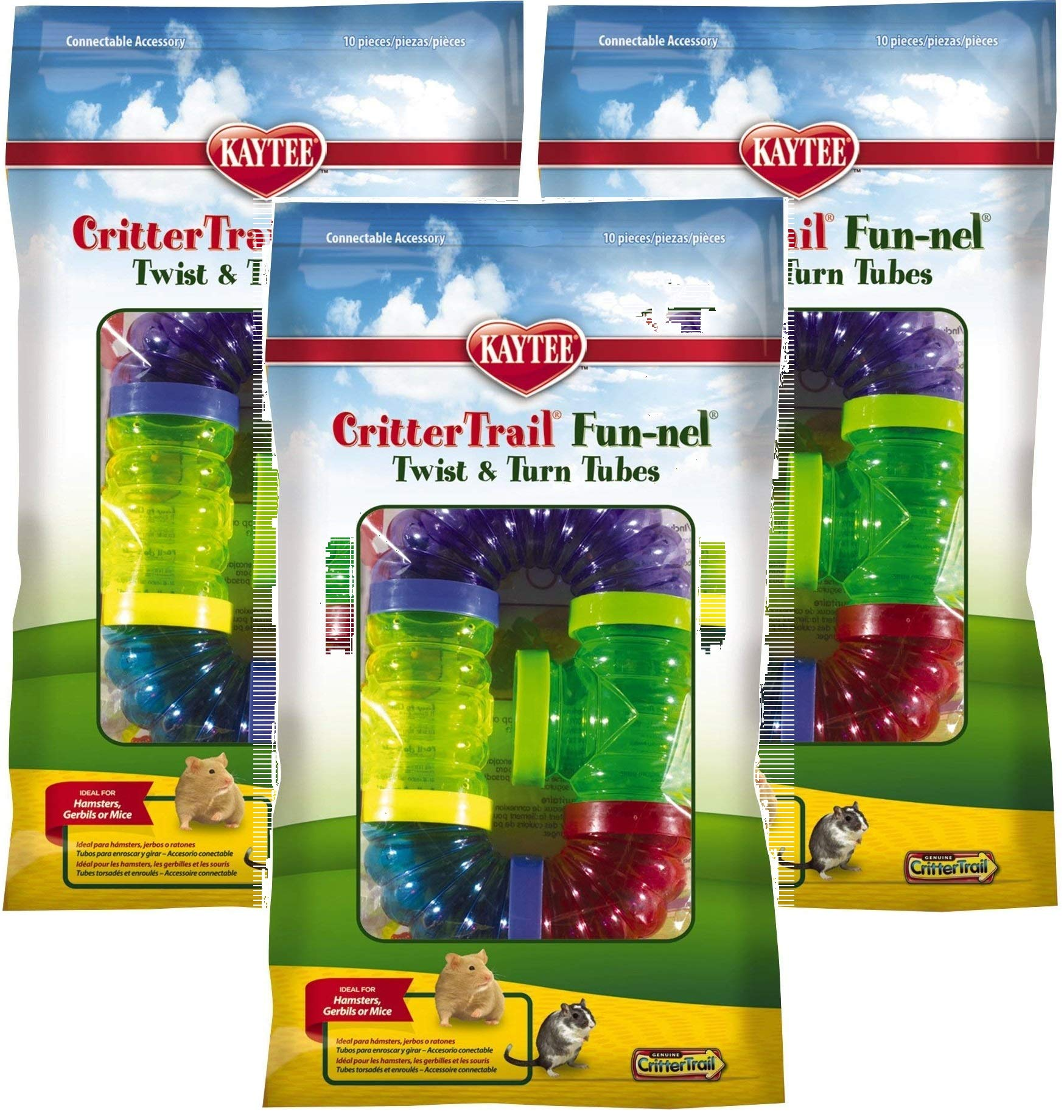 Kaytee CritterTrail Fun Twist and Turn Value Pack, Colors Vary 3 Pack