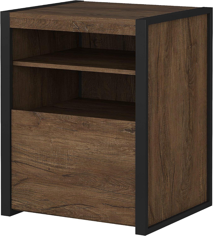 Bush Furniture Latitude File Cabinet, Rustic Brown